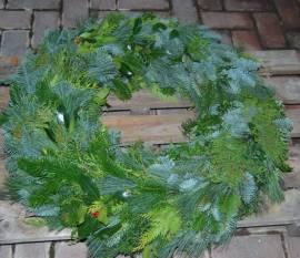 Kranz Mischgrün  60 cm rundgebunden - Bild vergrößern