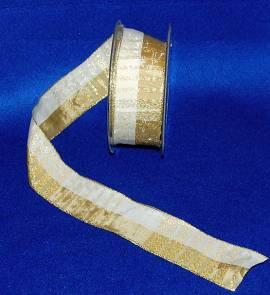 Band, champagner-gold, 4 cm - Bild vergrößern