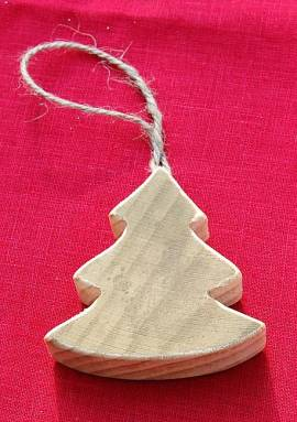 Holztanne, Natur, 8 cm, zum Aufhängen - Bild vergrößern