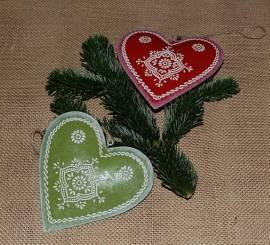 Metall-Herz, grün - Bild vergrößern