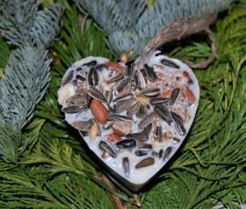 Ein Herz für Vögel, Futterherz 5 Stück - Bild vergrößern